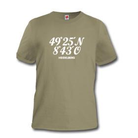 T-Shirt mit den Koordinaten von Heidelberg