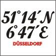 Düsseldorf T-Shirts mit Koordinaten