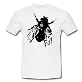 T-Shirt mit aufgedruckter Fliege