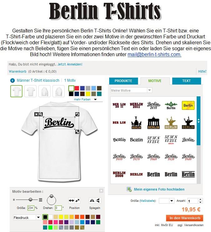 Berlin T-Shirts Designer
