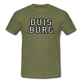 Duisburg College Style T-Shirt zweizeilig