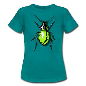 T-Shirt mit aufgedrucktem Käfer