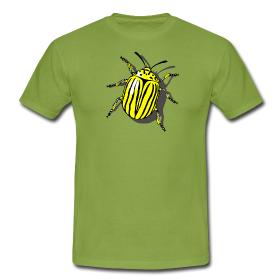 T-Shirt mit aufgedrucktem Kartoffelkäfer