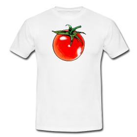 T-Shirt mit aufgedruckter Tomate