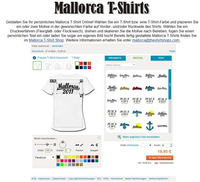Mallorca T-Shirts Designer