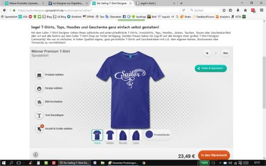 Der Segel T-Shirts Designer