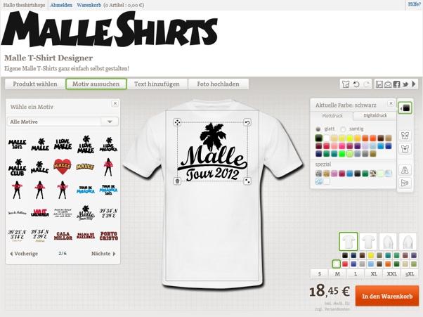 Malle T-Shirts selbst gestalten!