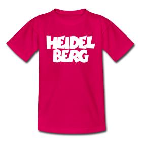 T-Shirts mit zweizeiligem Heidelberg-Aufdruck