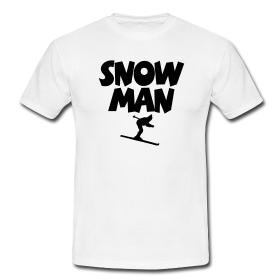 Snowman T-Shirts für Skifahrer und Snowboarder