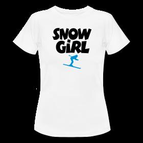 Snowgirl T-Shirts für Wintersportlerinnen
