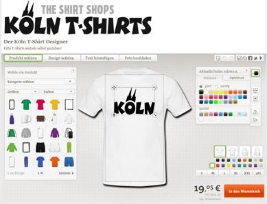 Köln T-Shirts einfach selbst gestalten