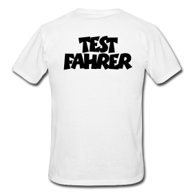T-Shirts für Testfahrer