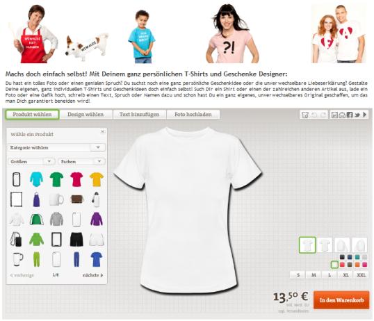 Dein ganz persönlicher T-Shirt Designer
