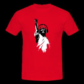 DJ T-Shirts Freiheitsstatue mit Kopfhörer