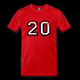 Nummer 20 T-Shirt mit der Zahl Zwanzig