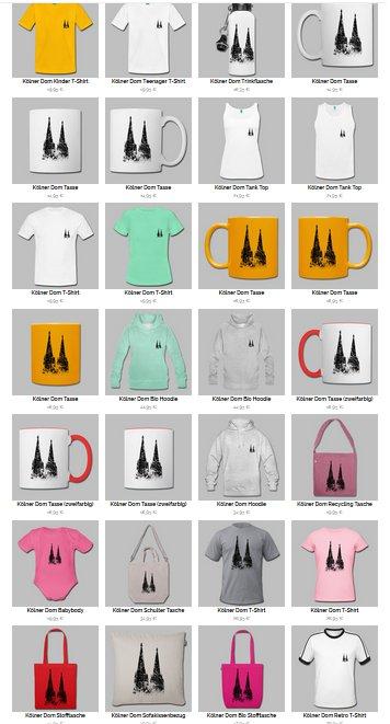 Der neue Köln T-Shirt Shop Produkte