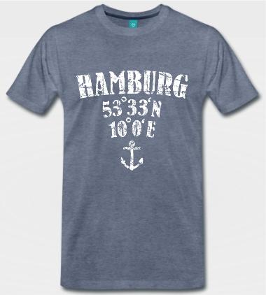 Hamburg Koordinaten T-Shirts