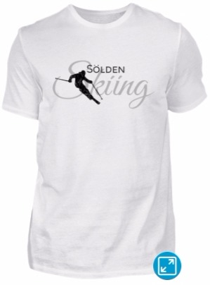 Sölden Skiing Skier T-Shirts Schwarz Grau