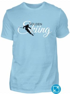 Sölden Skiing Skier T-Shirts (Schwarz Weiss)