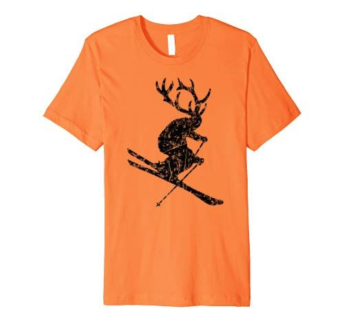 Skifahrer T-Shirts für Skihirschen