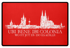 Ubi Bene Kölner Skyline kölsche Fußmatte aus Köln